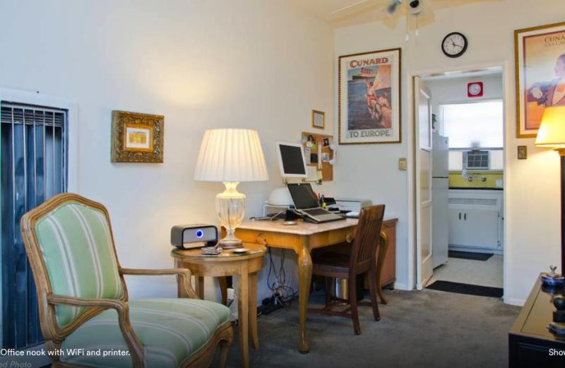 Office Nook with free WiFi and printer.