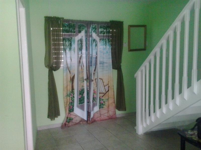 Stairs leading up to bedroom
