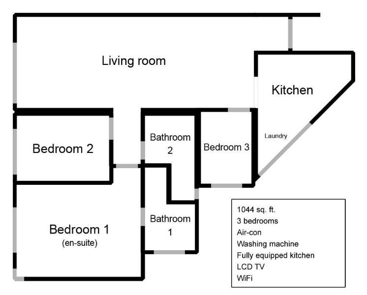 Planimetria dell'appartamento