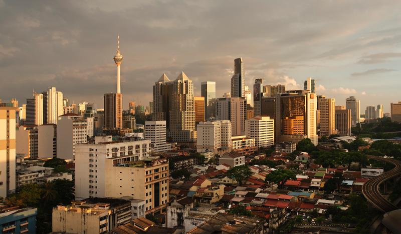 Vista della città di giorno