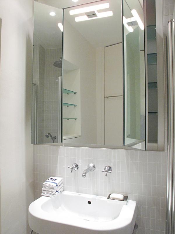 Bathroom, triptych mirror