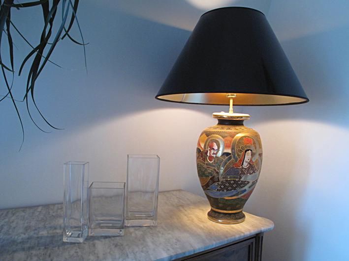 Japanese lamp Satsuma cloisoné