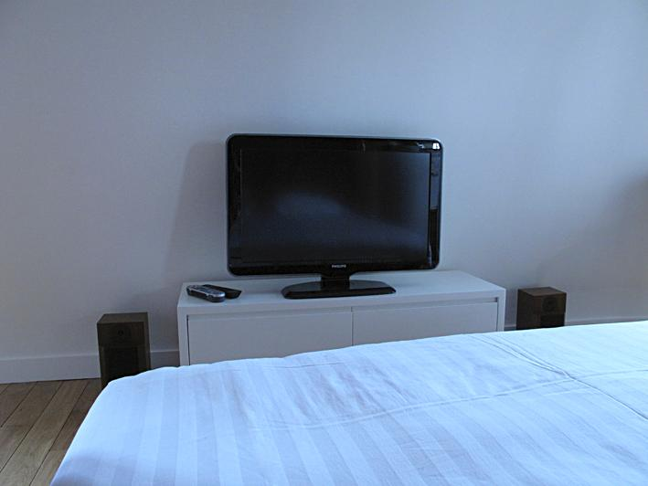 Flat screen tv from bed