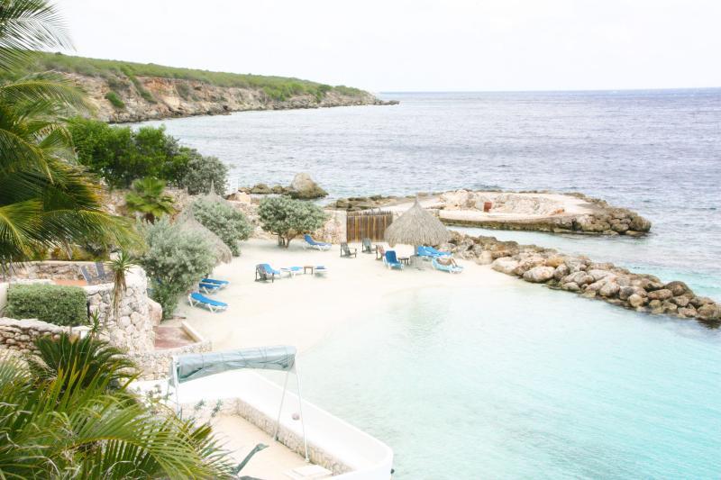The private beach in Curacao Ocean Resort