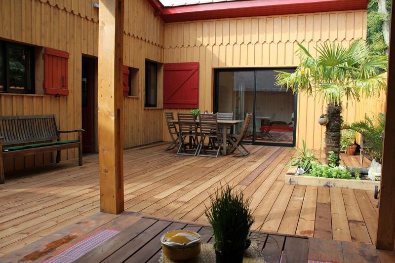 terrasse extérieure bois