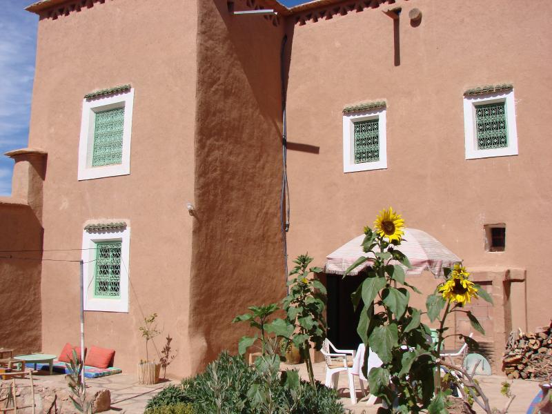 Maison en pisé restaurée à l'ancienne