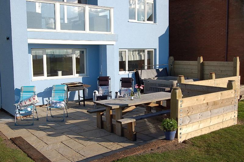 New decking area to the rear