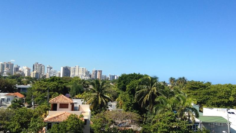 Balcony facing west towards Condado in the distance