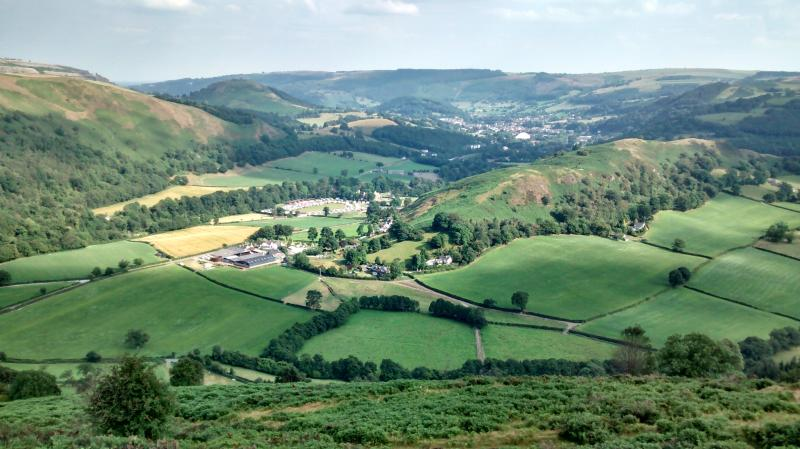 Velvet Hill & Abbey Terrace from Llantysilio Mountain Tramway