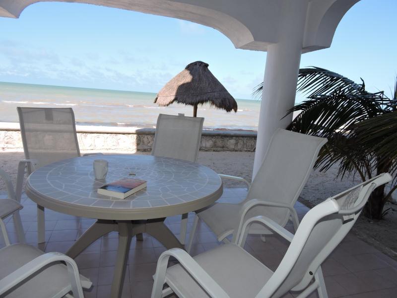 Beach level terrace