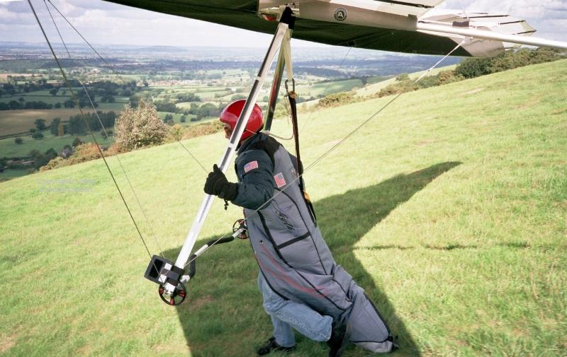 Hang gliding , Bell Hill near the village , spectacular views !