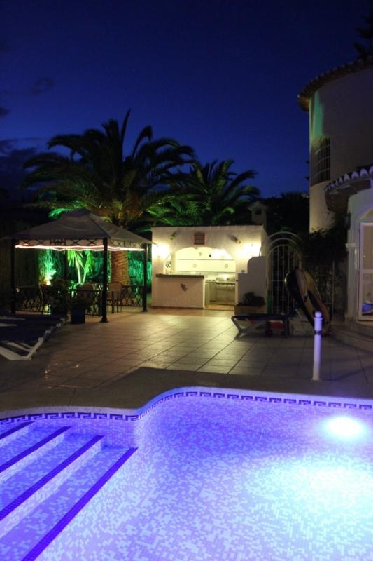 Pool & Patio at night