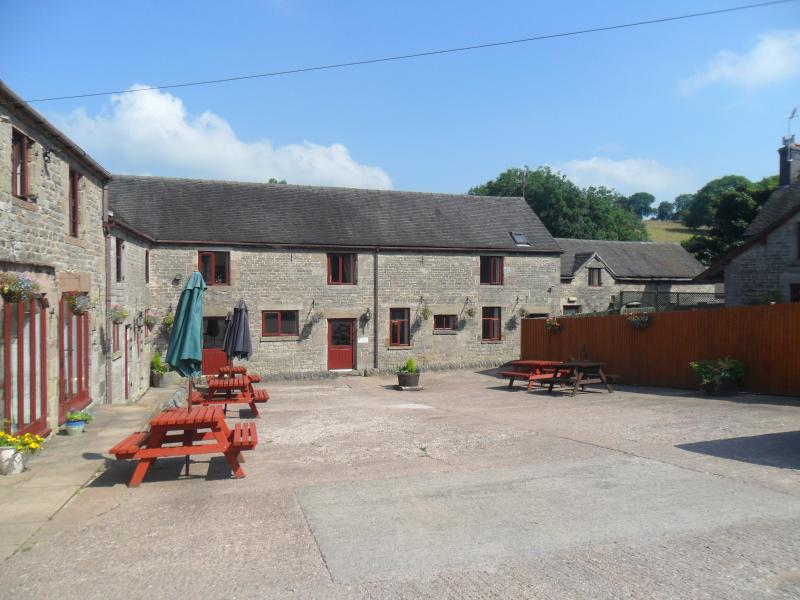 Pine Cottage is situated in our courtyard which is a suntrap in the Summer and ideal for bbqs, etc