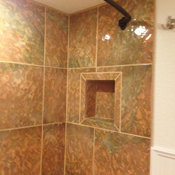Newly renovated bathroom Stall Shower