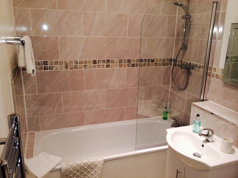 Bathroom - newly refurbished with bath