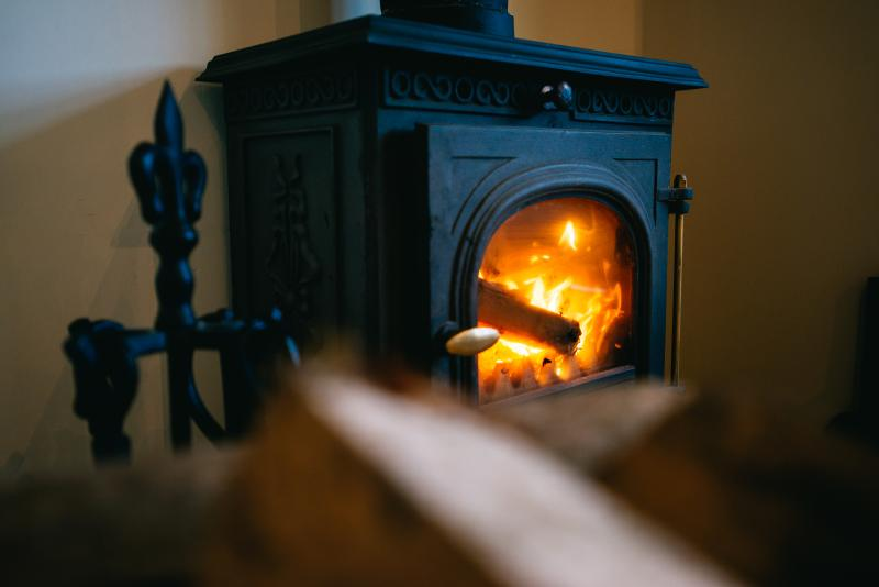 Relax in front of the cosy wood burner with a complementary glass of Prosecco...