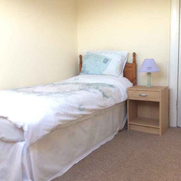 Single bedroom with sea views