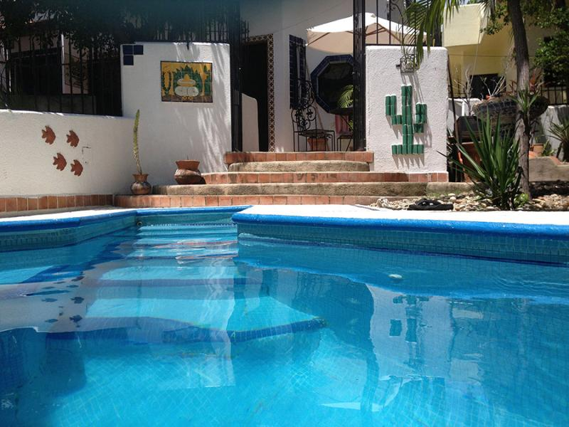 our plunge pool off the patio
