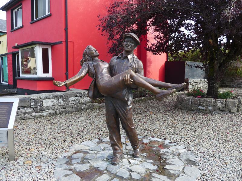 Villa Pio B/B, Cong,Mayo, Ireland. Statue from the movie The Quiet Man