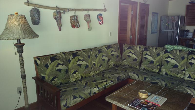 Confortável salão & arte local