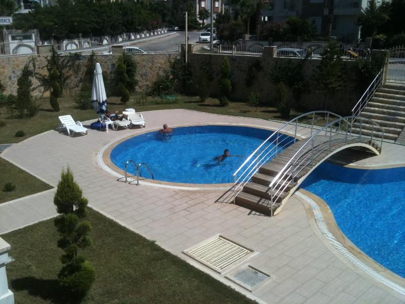 The swimming pool at day time