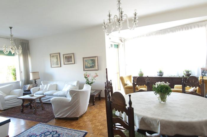 Dining table and sitting areas