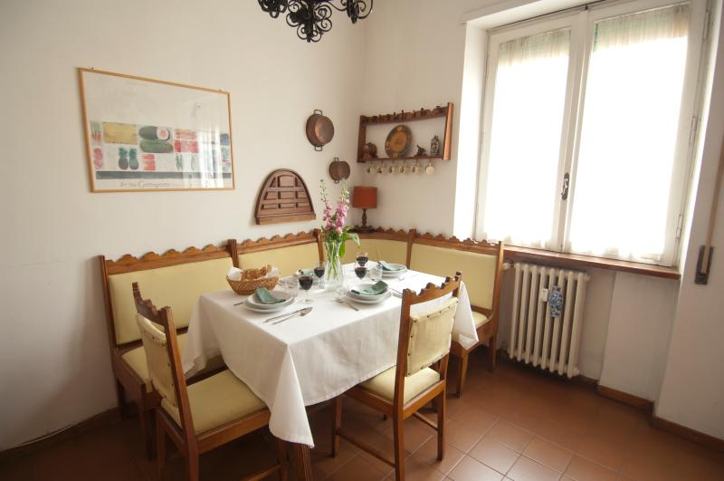 Dining table by the kitchen