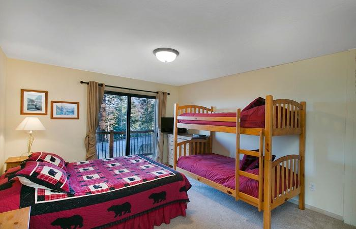 Second Bedroom With A Queen Bed And A Twin/Twin Bunk Bed