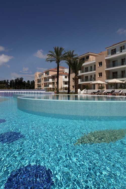 The beautiful cascading pool
