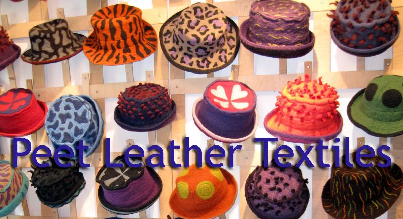 Hats made by Peet ... each one an individual and waiting for that perfect resting place. Try one on!