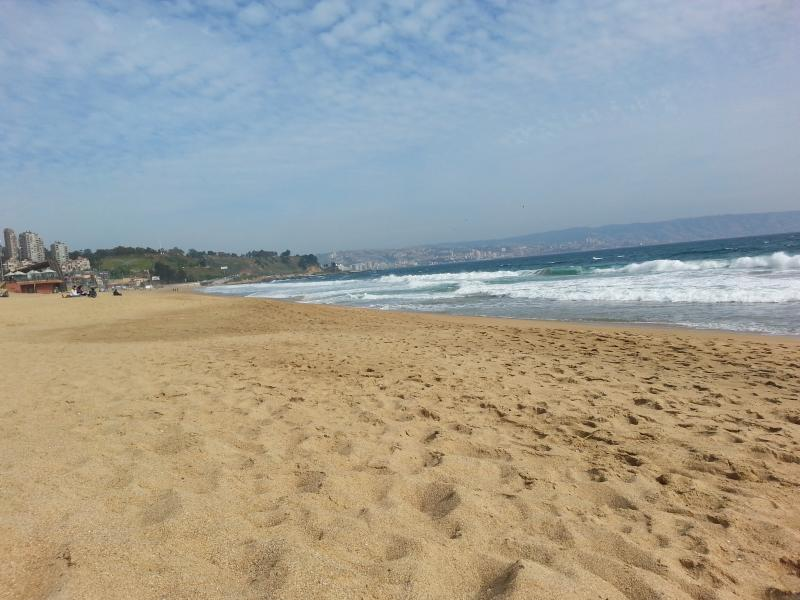 Reñaca beach, south-west view