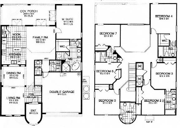 Floor plan 7 bedroom 5.5 baths