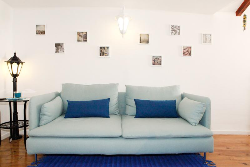 Comfortable sofa ideal to relax after a busy day in the city