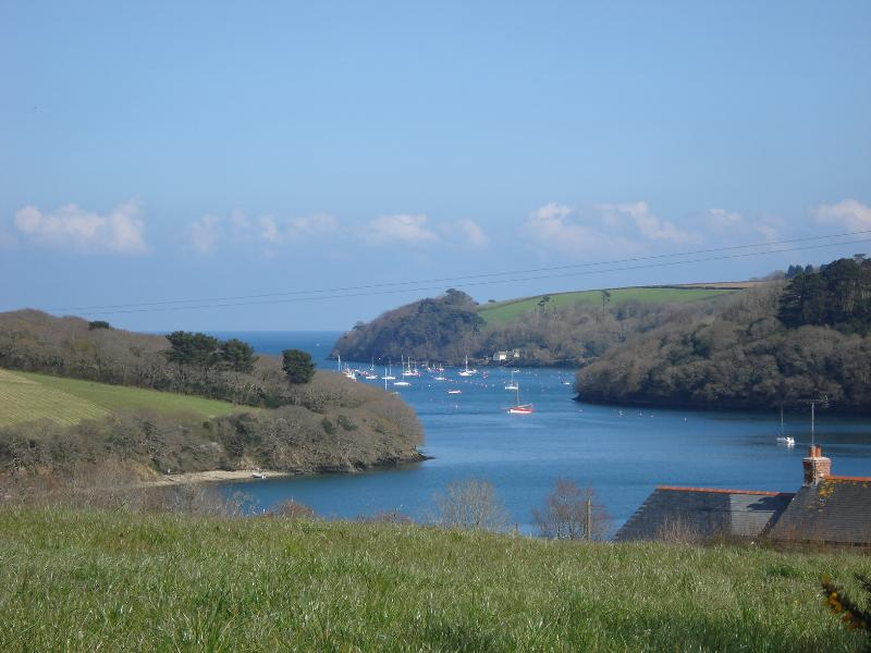 Helford river across the fields