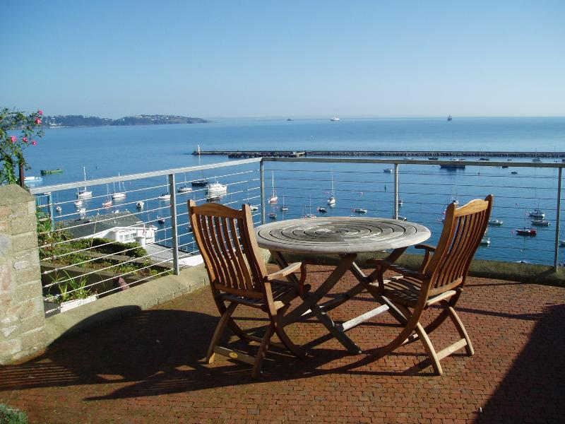 Patio area with panoramic sea views. Imagine yourself having breakfast in the morning sun!