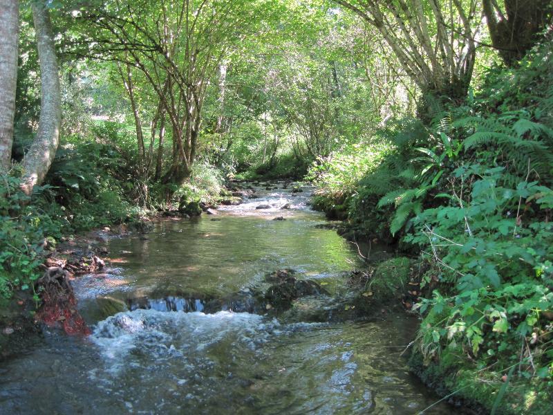 Fluß in den Gärten Haupthaus