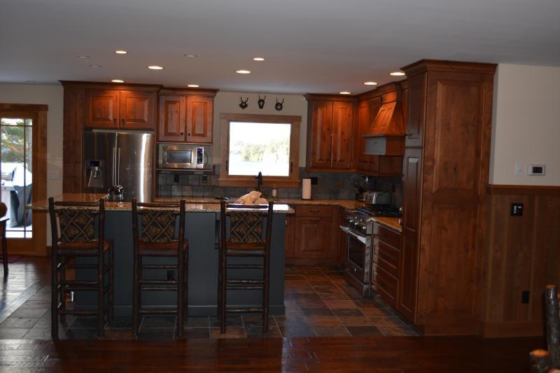 La cocina de la zona de la gran sala comedor.