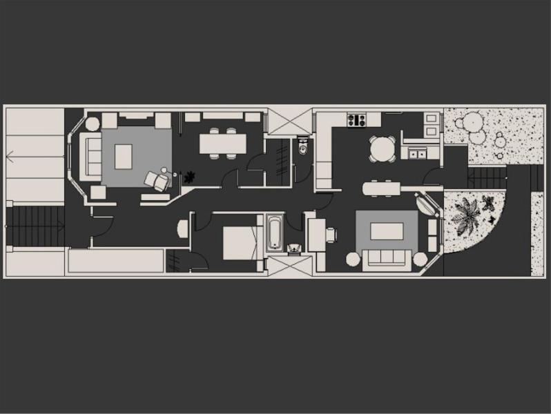 Floor Plan. PLUS a 1500 Sq.Ft. Garden in back! Tranquil living in Central San Francisco.