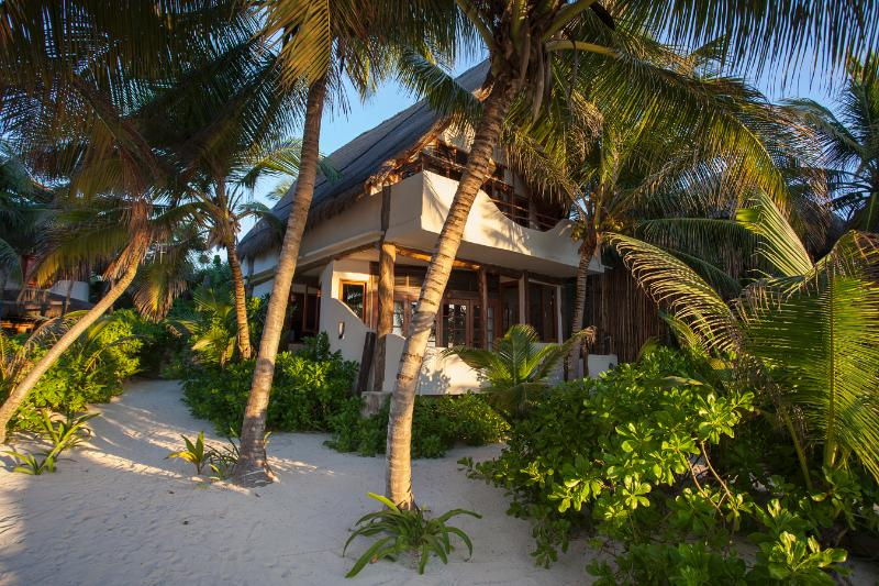 Casa Bonita amidst the tropical palms with sea views and sand at your doorstep.