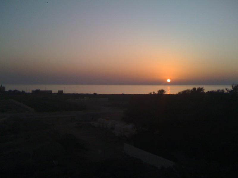 Sunset on the sea seen from the Villa