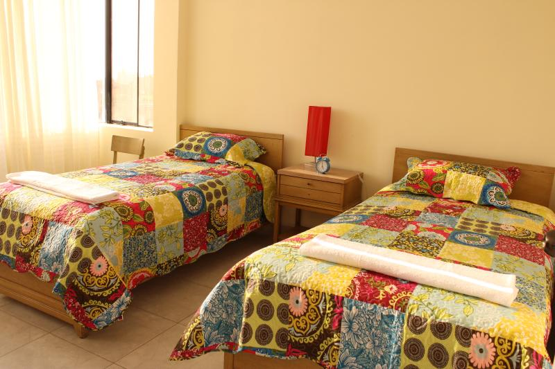 Our bedrooms are spacious and pleasant / bedroom