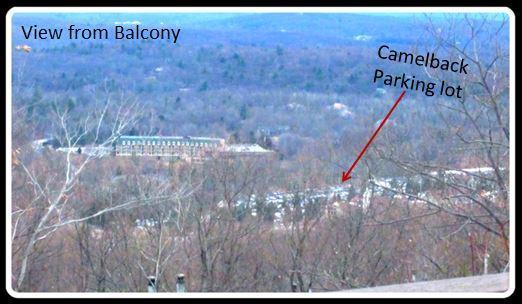 Balcon vue l'heure d'hiver