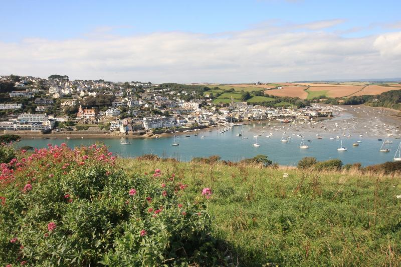 View over to Salcombe from the viewing point just beneath the house