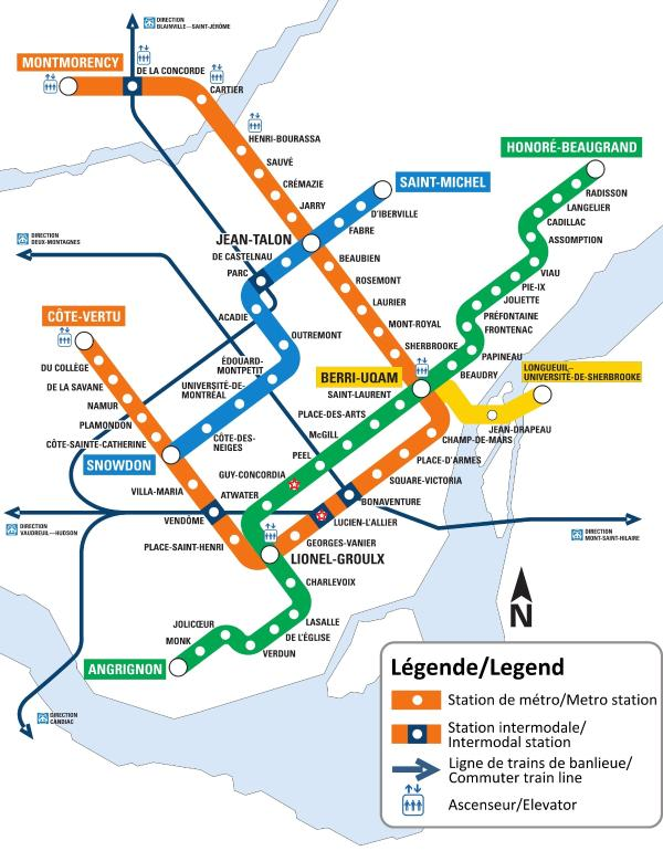Metro/Subway System Map