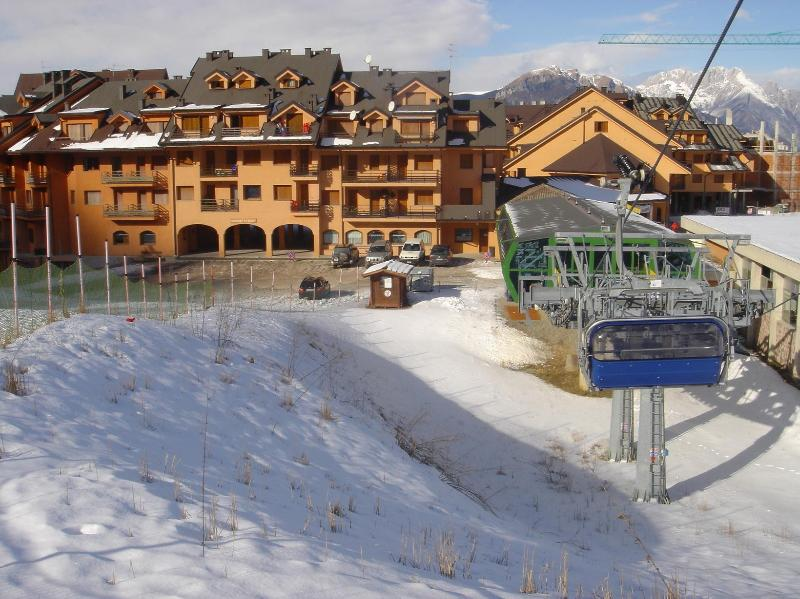 residence seen from the chairlift
