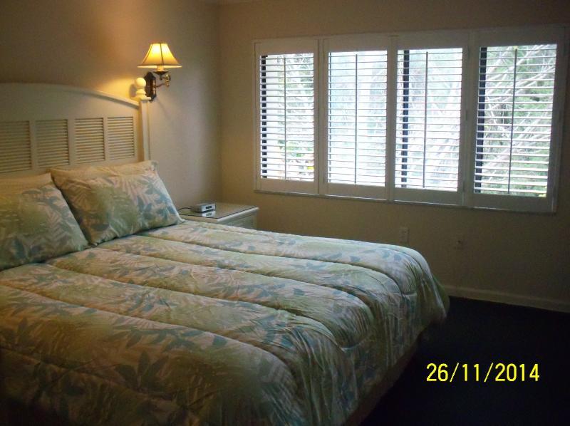King bed in Master, TV/DVD, ceiling fan