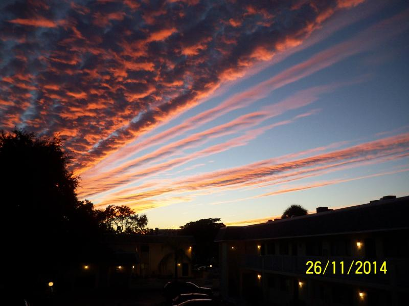 Did I mention the crazy sunsets over the condo?