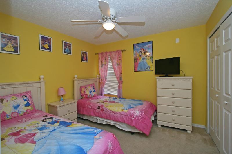Second floor bedroom (Bedroom #5) -  two twin beds, Themed 'Princess'