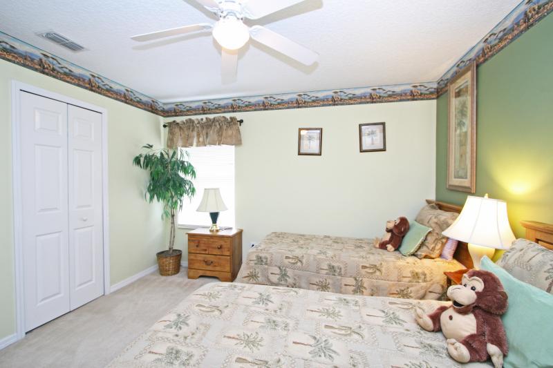 Second floor bedroom (Bedroom #6) -  two twin beds, Themed 'African Safari'