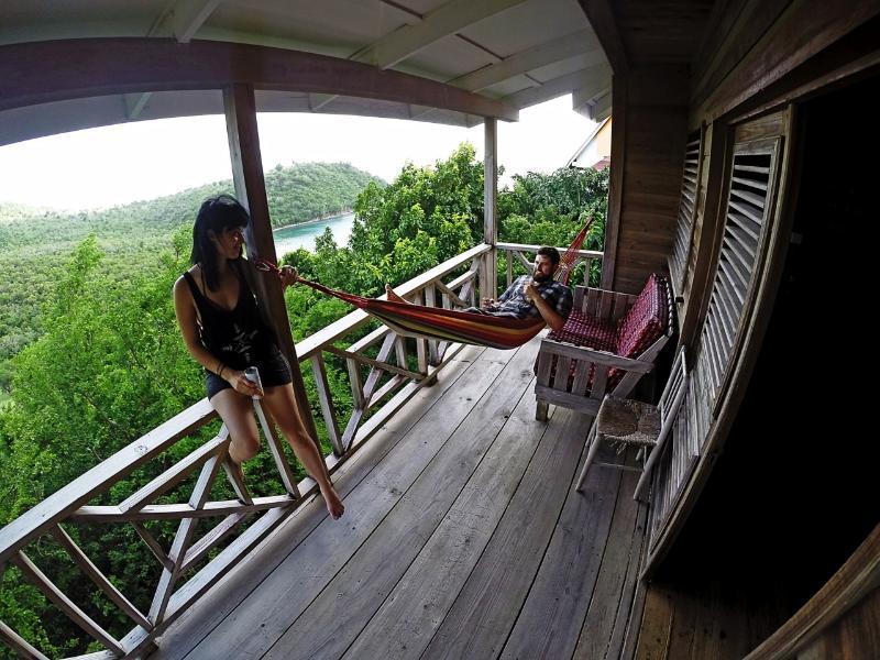 Hammock on the balcony